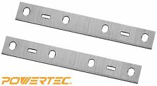 POWERTEC 148010 6-Inch Jointer Knives for Delta 37-070 and JT160, HSS, Set of 2
