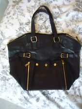 Yves Saint Laurent Black leather Downtown handbag