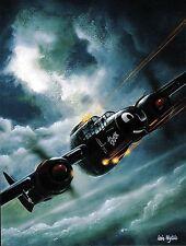 Postcard Aircraft  P-61 Black Widow modern card / large