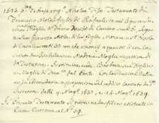 Antico Testamento Seicentesco 1639