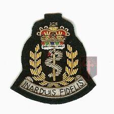 OFFICIEL RAMC fil brodé insigne de CASQUETTE (Royal armée MEDICAL CORPS