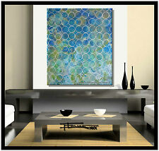 ABSTRACT PAINTING CANVAS WALL ART Large Signed 36in. US .ELOISExxx