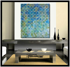 ABSTRACT PAINTING CANVAS WALL ART Large Framed Listed by Artist US ELOISExxx