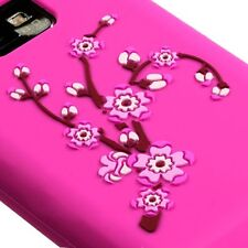 For AT&T Samsung Galaxy S II 2, SILICONE Skin Soft Gel Case Pink Spring Flowers