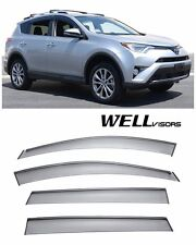 WellVisors Side Window Visors Deflectors W/ Black Trim For 13-UP Toyota RAV4