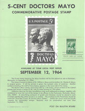 #1251 5c Doctors Mayo Stamp Poster- Unofficial Souvenir Page Folded MC