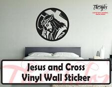 Jesus and Cross Vinyl Wall Sticker