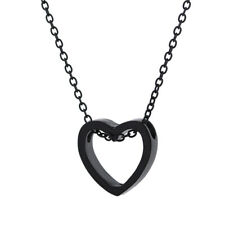 Fashion Heart Stainless Steel Chain Pendant Necklace Party Jewelry Gifts