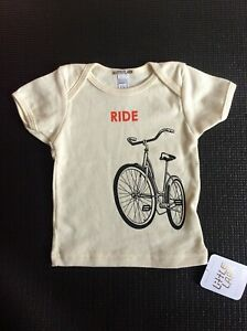 Organic S/S T Shirt baby 6-12m image of RIDE bicycle