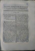 1780 'NUOVO GIORNALE D'ITALIA': GEOLOGIA GRANITO TELESCOPIO EQUATORIALE FRUMENTO