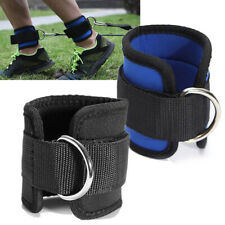 Fitness Exercise Gym Weight Lifting D Ring Ankle Straps Cable Strap Attachment