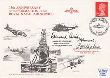75th Anniv of the Formation RNAS.  Signed by Admiral's F Hopkins & D. Cassidi