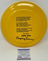 LEAPING LANNY POFFO Signed Ring Used WWF FRISBEE The Genius WCW PSA/DNA COA