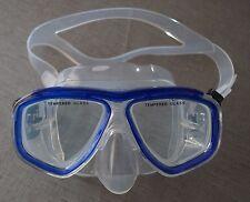 masque de plongée petit visage ou enfant SAEKODIVE Bleu M-2225S verre trempé