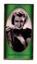 Jeanette Mac Donald 1936 Caid Film Star Cigarette Card #125