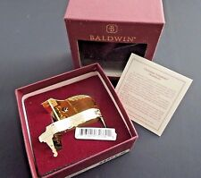 Baldwin Brass Classical Grand Piano Ornament 24KT Plated - NEW with BOX & TAGS