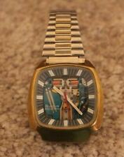 Bulova Accutron Spaceview 214 Men's Wrist Watch 1975 Tuning Fork Case Rare!