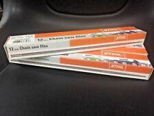 "Genuine Stihl Chainsaw Files (12 Pack) (7 7/8"" x 3/16"") OEM: Chain Saw Files New"