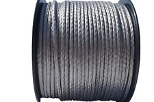 "Grey 5/32""×330ft 12Strand Winch Line,UHMWPE Winch Cable,Synthetic Rope Cable"