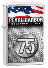 Zippo Windproof Pearl Harbor 75th Anniversary Lighter, 29176, New In Box