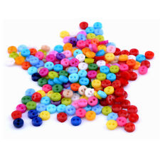 200pcs 6mm Hole Round Craft Micro Buttons Sewing Accessories Mixed Colors