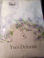 Yves Delorme France NWT (1) Queen Flat Sheet Etrebleu 100% Printed Cotton