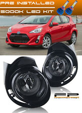 2015-2017 Toyota Prius C / Aqua Fog Lights Clear Lens Complete Switch Wiring Kit