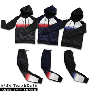Kids Boys Tracksuit Aztec Style Hooded Junior Jogging Bottoms And Hoodie 3 Color