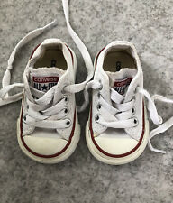 Baby Toddler Unisex White Converse Infant 2 Good Condition