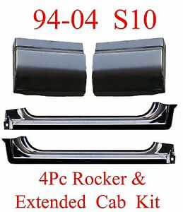 94 04 S10 4Pc Extended Rockers & Extended Cab Corners Kit, 2 Door X-Cab Trucks