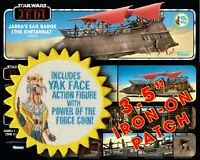 "Kenner HasLab STAR WARS ""Includes Yak Face"" Jabba's Sail Barge TVC 3.5"" patch"