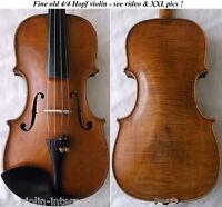 OLD AUTHENTIC 1800s HOPF VIOLIN - VIDEO - バイオリン ANTIQUE Violino скрипка 小提琴 816