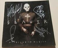 SLAYER Autographed Vtg  CD liner  Diabolus in Musica  Kerry  Tom   Jeff   Paul