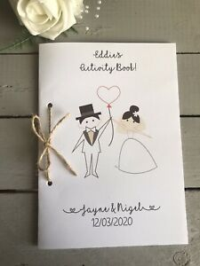 Wedding Kids Activity Book Personalised