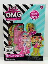 New! L.O.L. Omg Outrageous Millennial Girls Paper Dolls Dress Up Fashions