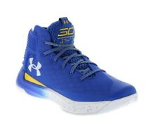 NEW - UNDER ARMOUR Men's 'CURRY 3ZERO' Blue/Yellow BASKETBALL SHOES - 11 M/ 45