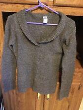 Women gap wool sweater shawl collar grey in Size medium v-neck