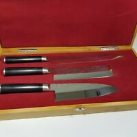 Shun pro knife 3 piece set bamboo display case B0033AHDD6