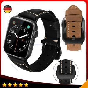 Leder Uhren Armband bracelets Für Apple Watch Series SE/6/5/4/3/2/1 42MM 44MM DE