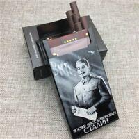 Stalin Aluminium Alloy Cigarette Case Laser Carved Will Not Fade Cigarette Boxes