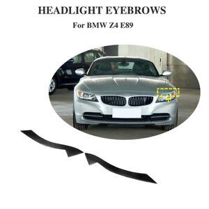 For BMW E89 Z4 2009-2012 Front Eyelids Eyebrow Headlight Cover Carbon Fiber