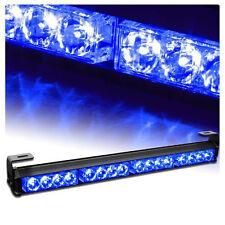 4X4 LED Warning Light Bar Traffic Advisor Vehicle Strobe Lamp Blue