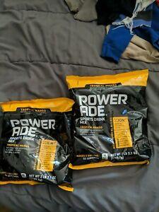 LOT OF 2 Powerade Powder Drink Mix Tropical Mango