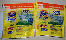 2 Tide Simply Pods 3 In 1 OXI Laundry Detergent, 13 Count, Daybreak Fresh Scent