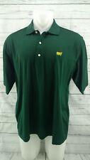 VTG Augusta National Golf Shop Slazenger Green Masters S/S Polo Shirt - Mens L