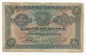 Mozambique 5 Libras 1919 in (VG) Banknote