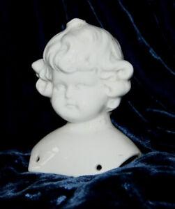 """Antique bisque china head  h.3 7/16"""" -8.4 cm"""
