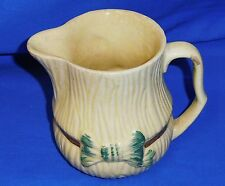 1950's Vintage Keele Street Pottery KSP Yellow Ribbed  Milk Jug Tied Ribbon 10cm