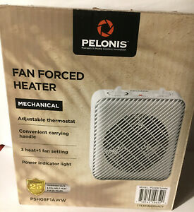 Pelonis Fan-Forced Heater with Thermostat and Three Heat Settings New in Box