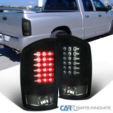 For Glossy Black 02-06 Dodge Ram 1500 2500 3500 Dark Smoke LED  Rear Tail Lights